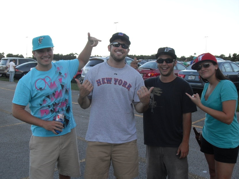 Pre-game tailgating with some Marlins fans/friends